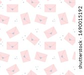 cute seamless pattern with pink ... | Shutterstock .eps vector #1690015192