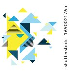 colorful geometric background.... | Shutterstock .eps vector #1690021765