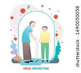 vector illustration of protect...   Shutterstock .eps vector #1690050058