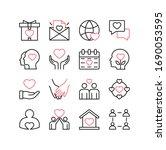 love and relationships line... | Shutterstock .eps vector #1690053595