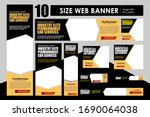 set of business banner template ... | Shutterstock .eps vector #1690064038