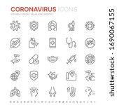 collection of coronavirus... | Shutterstock .eps vector #1690067155