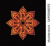 mandala graphic design for art  ... | Shutterstock .eps vector #1690068055