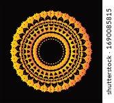 mandala graphic design for art  ... | Shutterstock .eps vector #1690085815
