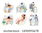 stressed exhausted tired... | Shutterstock .eps vector #1690093678