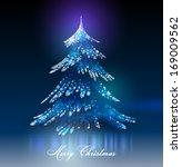 christmas tree. vector eps 10. | Shutterstock .eps vector #169009562