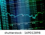 financial data on a monitor.... | Shutterstock . vector #169012898