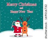santa claus and deer | Shutterstock .eps vector #169016732