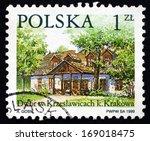 poland   circa 1999  a stamp... | Shutterstock . vector #169018475