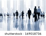abstrakt image of people in the ... | Shutterstock . vector #169018736