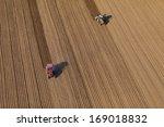 aerial view of harvest fields...   Shutterstock . vector #169018832
