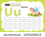 Colorful Letter U Uppercase An...