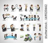 business peoples   isolated on... | Shutterstock .eps vector #169020662