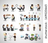 business peoples   isolated on... | Shutterstock .eps vector #169020665