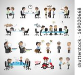 business peoples   isolated on... | Shutterstock .eps vector #169020668