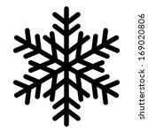 snowflake silhouette   Shutterstock . vector #169020806