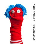 Red Sock Puppet Isolated On...