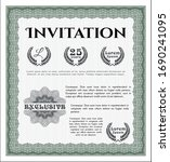 green invitation. money pattern ... | Shutterstock .eps vector #1690241095