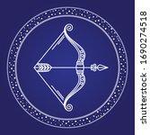 sagittarius astrology zodiac... | Shutterstock .eps vector #1690274518