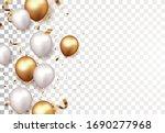 celebration banner with gold...   Shutterstock .eps vector #1690277968