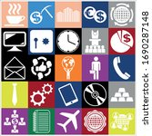 set of 25 business high quality ... | Shutterstock .eps vector #1690287148
