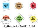 colorful pastel color logo... | Shutterstock .eps vector #1690311148