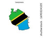 map and flag of tanzania vector ... | Shutterstock .eps vector #1690324105