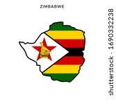 map and flag of zimbabwe vector ... | Shutterstock .eps vector #1690332238