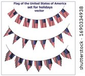 bright set with flag of usa.... | Shutterstock .eps vector #1690334938