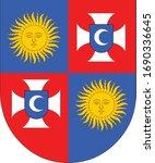 coat of arms of ukrainian... | Shutterstock .eps vector #1690336645