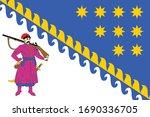 flag of ukrainian region ... | Shutterstock .eps vector #1690336705