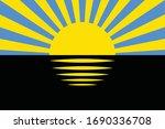 flag of ukrainian region ... | Shutterstock .eps vector #1690336708