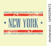 american new york state text... | Shutterstock .eps vector #1690339672
