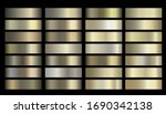 metallic  bronze  gold  silver  ... | Shutterstock .eps vector #1690342138