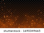 smoke  sparks and fire... | Shutterstock .eps vector #1690349665