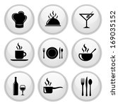 food and restaurant icons white ... | Shutterstock . vector #169035152