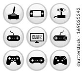 video game icons white plastic... | Shutterstock . vector #169035242