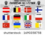 set of realistic official world ... | Shutterstock .eps vector #1690358758