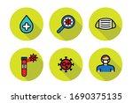 virus line icons  vector... | Shutterstock .eps vector #1690375135