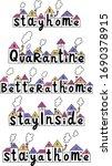 quarantine  better at home ... | Shutterstock .eps vector #1690378915