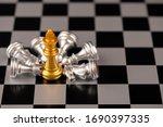 chess. strategy ideas planning...   Shutterstock . vector #1690397335