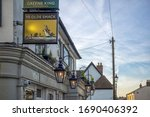 Small photo of LEIGH-ON-SEA, ESSEX, UK - 02/16/2018: Sign outside Ye Olde Smack Pub at Old Leigh
