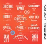collection of typographic... | Shutterstock .eps vector #169041092