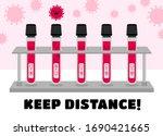 keep distance banner.... | Shutterstock .eps vector #1690421665