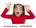 pretty young girl posing with... | Shutterstock . vector #169042652
