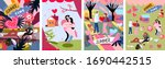 summertime cute vector...   Shutterstock .eps vector #1690442515