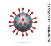virion of coronavirus. sars cov ... | Shutterstock .eps vector #1690453162