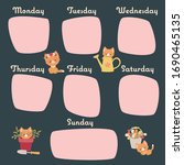 Weekly Cute Cats Calendar....