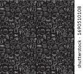 seamless doodle vector pattern... | Shutterstock .eps vector #1690510108