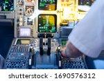 Cockpit Of A Passenger Plane....